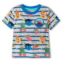Baby Boys' Finding Dory Stripe Short Sleeve Tee : Target