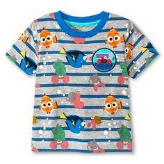Baby Boys' Finding Dory Stripe Short Sleeve Tee : Target