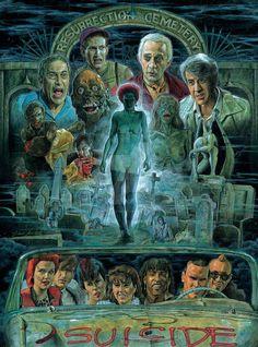 Return of the living dead poster art - munnabhai chale america watch Horror Icons, Horror Movie Posters, Movie Poster Art, Zombie Movies, Scary Movies, Horror Artwork, Horror Movie Characters, Zombie Art, Classic Horror Movies