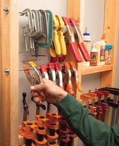 Clamp storage ideas that I need to implement out in the shop.