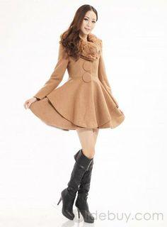 Amazing Korean Style Single-breasted Turndown Collar Trech Coat : Tidebuy.com