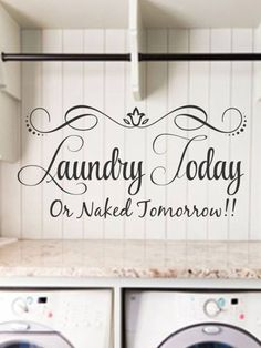 Laundry Room Wall Appliques Delectable Laundryroomvinylwalldecalbyhoneydropdecalsonetsy$14.00 Decorating Design