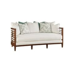 Tommy Bahama Ocean Club St. Lucia Sofa (200.500 RUB) ❤ liked on Polyvore featuring home, furniture, sofas, white furniture, tommy bahama sofa, white sofa, colored furniture and white couch