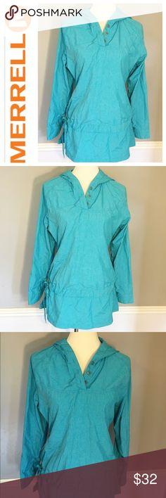 Merrell opti-wick spf 30 lightweight jacket size M EUC! Zero flaws! Great aqua blue color. Waterproof with spf 30. Merrell Jackets & Coats