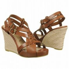SALE - Chinese Laundry Double Click Wedge Heels Womens Brown Leather - Was $59.00 - SAVE $6.00. BUY Now - ONLY $53.10