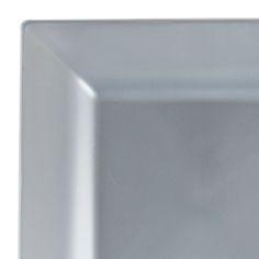 "9.5"" Square Silver Plastic Dinner Plates"