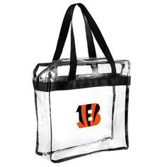 Cincinnati Bengals Clear Messenger Basic Tote Bag ***ALLOWED IN NFL STADIUMS!***