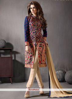 Voluptuous Embroidered Work Churidar Designer Suit