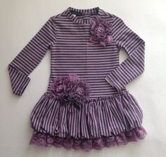 Biscotti Heirloom Garden Grey and Lilac Dress