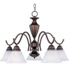 Newport Down Light Chandelier Oil Rubbed Bronze