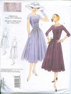 1957 Sewing Pattern Vintage styled Vogue 1044 by OhSewCharming