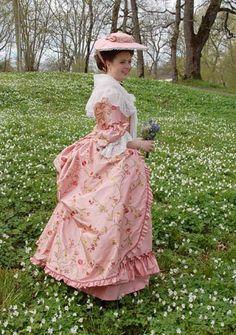 Pink silk polonaise, Duran Textiles
