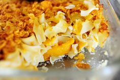 "Peach Noodle Kugel ""Don't wait for peach season, baby - only canned peaches will do."" - Ree Drummond"