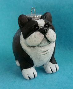Beans the Boston Terrier by darbella designs in by darbelladesigns, SOLD