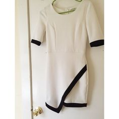 [FINAL REDUCTION] Black and White Bodycon The fabric is quite see-through so I recommend a slip. The material is really good, and it has no damage. It could fit a small or medium. The sleeves are three quarter length. No trades and the price is firm. Charlotte Russe Dresses