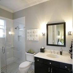 Black And White Tile Bathroom Design Ideas, Pictures, Remodel, and Decor - page 9