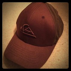 Quicksilver hat Brown Flexfit Quicksilver hat Quiksilver Accessories Hats