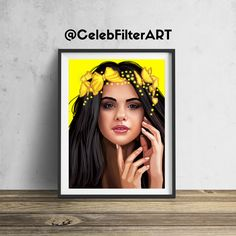 CelebFilterArt donates a portion of all profits to a non-profit funding arts programs in public elementary schools. This original Selena Gomez wall art will be sure to stop people in their tracks... and for a good cause! Printed to order (not mass produced) using heavyweight professional endura premier paper. Every piece sold helps foster the creativity, dreams, hopes, and imaginations of our children. FREE SHIPPING FRAME NOT INCLUDED