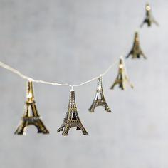 Eiffelturm 10 'LED Glimmer Strings® – Allison Chandler – Join the world of pin Paris Room Decor, Paris Rooms, Paris Themed Rooms, Paris Themed Bedroom Decor, Plywood Furniture, Design Furniture, Refurbishing Furniture, George Nelson, Eiffel Tower Lights