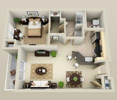 Pinterest: @claudiagabg   Apartamento de soltería