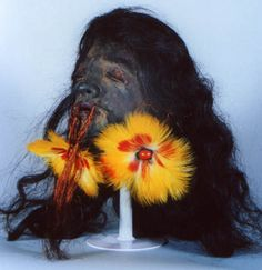 Ecuadorian Shrunken Head. This exquisite tsantsa was  recently sold by ArtAreas.com for $10,500.00. That's a lot of money  for a little head!