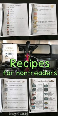 Visual recipes help all students cook successfully! Perfect for non readers in autism and special education classrooms