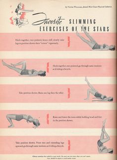 vintage work out tips