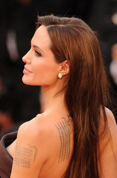 Pin for Later: The Ultimate Celebrity Tattoo Gallery Angelina Jolie