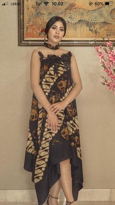 Batik Kebaya, Batik Dress, Batik Fashion, High Low, Fabric, Beauty, Dresses, Tejido, Vestidos