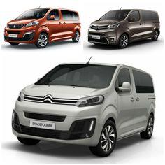 Peugeot Traveller (top left) - Toyota Proace (top right) - Citroen Spacetourer (bottom)