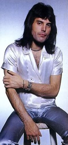 Freddie Mercury, British singer/songwriter, record producer, lead singer/front man of rock band, Queen, (1946 - 1991)