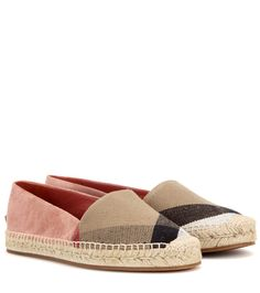 86646bf219 Burberry Brit - Hodgeson suede and check espadrilles - Burberry Brit blends  traditional and modern looks