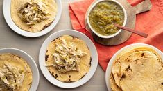 Roasted salsa verde brings this chicken taco recipe to life! Throw everything into the slow cooker and let the magic work, with our Crock Pot Salsa Verde Chicken Tacos! Chicken Taco Recipes, Chicken Tacos, Easy Dinner Recipes, Great Recipes, Easy Meals, Cheddar Cheese Soup, Salsa Verde, Chicken Seasoning, Cooking Recipes