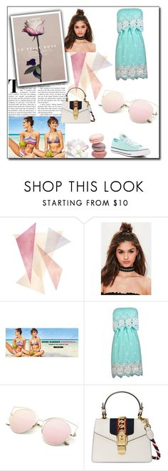"""""""Fun Summer"""" by aldina-dinka ❤ liked on Polyvore featuring Missguided, Gucci and Converse"""