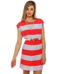 Awesome Shipwrecked Red Striped Dress Clothes Check more at http://fashionie.top/pin/41579/
