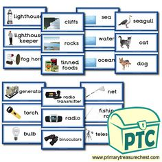 Lighthouse Role Play Resources - Primary Treasure Chest Teaching Activities, Teaching Ideas, Lighthouse Keepers Lunch, Seaside Shops, Ourselves Topic, Seaside Holidays, Role Play, Treasure Chest, Ocean