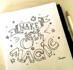 - Make your own magic -  #dutchlettering #dutchletteringchallenge #november #handlettering #handletteren #doodles #handmade #scripting #brushscripting #stiften