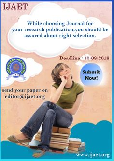 Call for Papers August 2016 Issue Journal, Paper, Movie Posters, Film Posters, Billboard, Journals