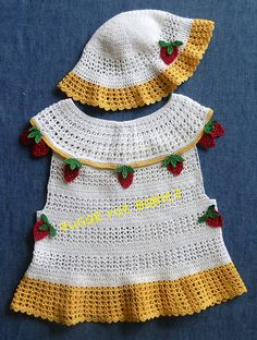 Baby Girl Crochet Pattern Sun Dress and Hat por SugarToeBabies