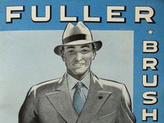 Fuller Brush man came to our house twice a month to sell brushes and cleaning products. 1950's - 1960's