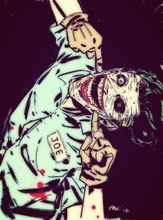 Extra creepy comic book Joker