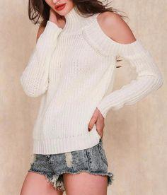 Melinda cold shoulder knitted sweater