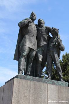 Slavin is a memorial monument and military cemetery of almost 7 000 Soviet soldiers who fell during the World War II while liberating the city in April 1945 Military Cemetery, Bratislava, World War Ii, Statues, Lion Sculpture, Memories, City, Beauty, Sculptures