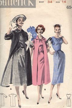 Vintage 1950s Butterick Sewing Pattern 8044 by SewAddicted2SewMuch