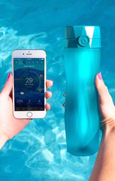 Hidrate Spark 2.0 is a smart water bottle that tracks your intake and GLOWS to remind you to drink more water. The bottle comes with a hydration app that calculates your hydration goal based on your physiology and location. It even syncs with Fitbit, Apple Watch, MyFitnessPal, and other fitness apps to adjust your water goal based on daily activity.  www.hidratespark.com