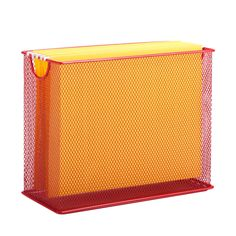 Features:  -Add organization to any room.  -Great for any office or bedroom.  -File organizer cannot hold legal files.  Product Type: -Supplies Organizer.  Material: -Metal. Dimensions:  Overall Heigh