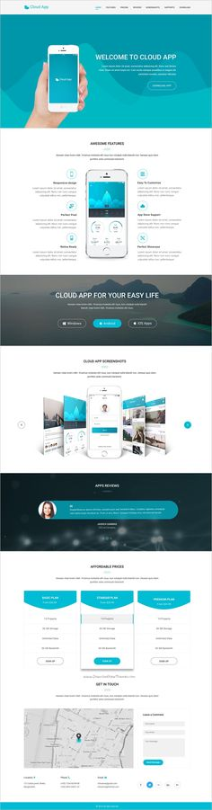 Cloud App is a wonderful #PSD template for #apps multipurpose #landing page websites download now➩  https://themeforest.net/item/cloud-app-landing-page-template/19175117?ref=Datasata