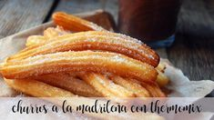 Churros from Madrid with thermomix - Thermomix Recipes Homemade Churros Recipe, Honduran Recipes, Dessert Thermomix, Pancakes And Bacon, Gluten Free Treats, Sausage Breakfast, Donut Recipes, Food N, Formulas