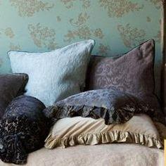 Bella Notte Linens Adele Pillow Sham with Silk Velvet Piping - Relish New Orleans  - 1