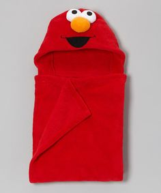 Take a look at this Red Elmo Hooded Wrap by Sesame Street on #zulily today!